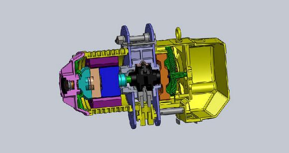 电动葫芦结构紧凑,电机轴线垂直于卷筒轴线的电动